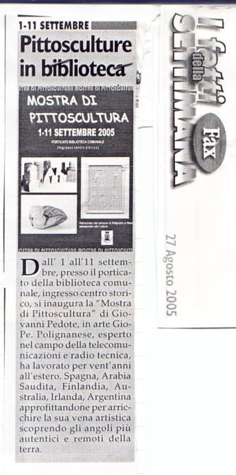 Articolo fax 2005